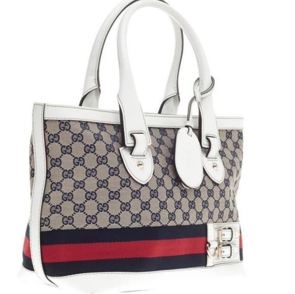 cf5fa3cb8b34c0 Gucci Bags | Vintage Heritage Tote 257085 | Poshmark